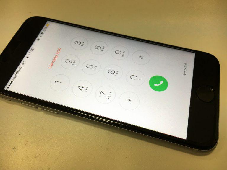 画面交換修理後のiphone6