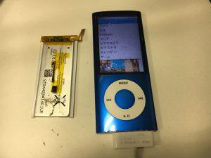 バッテリー交換修理後のiPod nano第5世代