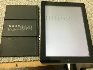 バッテリー交換後のiPad2