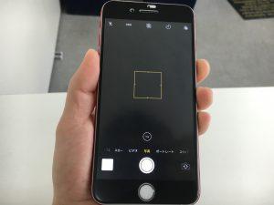 カメラを起動しても真っ暗な状態のアイフォン7