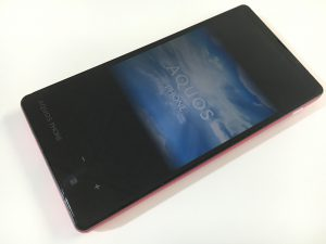 画面交換修理後のAQUOS PHONE Xx mini(303SH)
