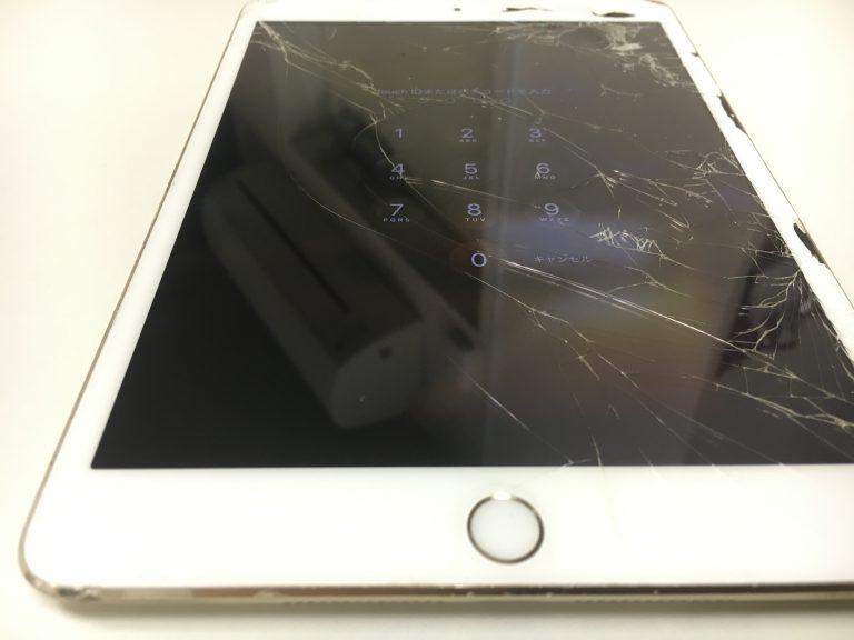 画面全体のガラスがボロボロなiPadmini3
