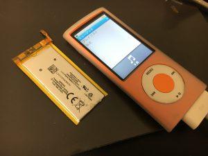 電池交換後のiPod nano 5th