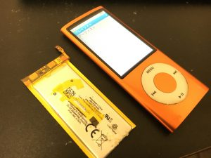 バッテリー交換修理後のiPod nano 第4世代