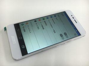 画面割れの修理後のASUS Zenfone3 Max(ZC520TL)