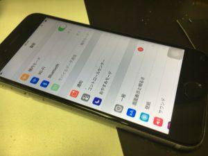 画面交換とホームボタンの交換修理後のiphone6s