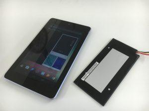 バッテリー交換修理後のNexus7(2012)