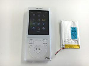 バッテリー交換後のNW-S766