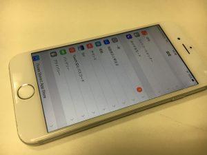 画面交換修理後のiPhone8