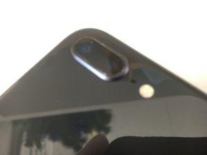 アウトカメラレンズの交換修理後のiPhone 8Plus