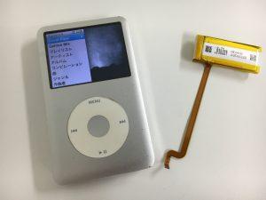 電池交換修理後のアイポッドクラシック160GB