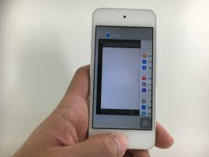 ホームボタン修理後のiPod touch第6世代