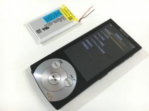 充電池の交換修理後のWALKMAN NW-A845