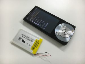 充電池交換修理後のWALKMAN NW-A845