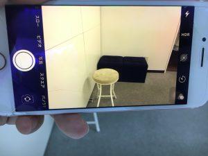 外側カメラの交換修理後のiPhone8