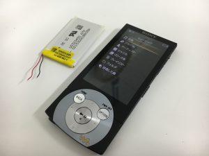バッテリー交換修理後のWALKMAN NW-A845