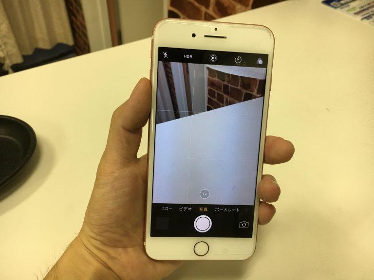 カメラ交換修理後のiPhone7Plus