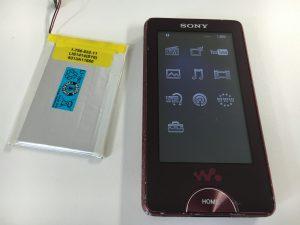 電池交換後のソニーウォークマンNW-X1060-300x225