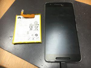 バッテリー交換完了したNexus6P