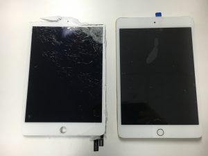 ガラス交換修理後のiPad mini4