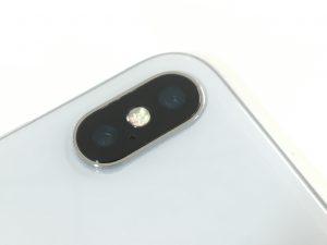 カメラカバーガラス修理後のiphone10