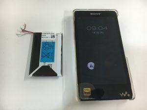 バッテリー交換修理後のNW-F886