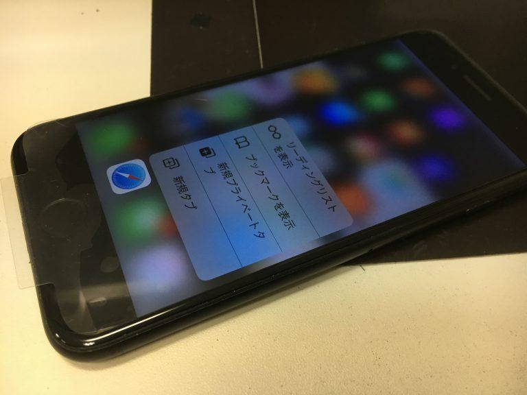 ガラス交換修理後のアイフォン7プラス