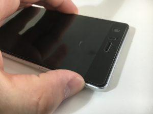 電源ボタンを押してもほとんど反応しない状態のVAIO PHONE A