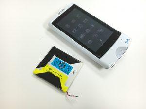 充電池交換後のWALKMAN NW-A865