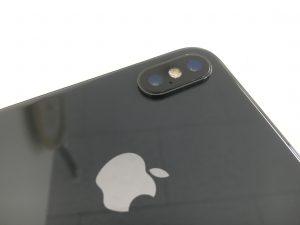 外側カメラレンズの修理後のiPhoneX(テン)