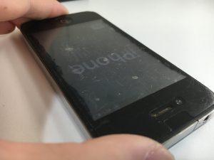 スリープボタンの修理後のiphone4