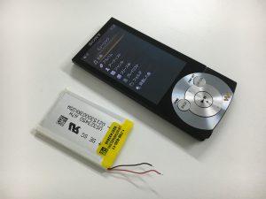 電池交換修理後のウォークマンNW-A845