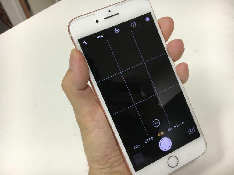カメラを起動しても画面が真っ暗で全く撮影ができないiPhone7Plus