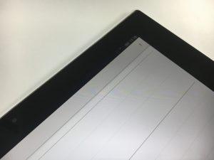 ガラス割れでタッチ操作できなかったが画面交換で改善したXperiaZ2tabletSO-05F-300x225