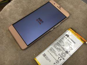 バッテリーを新品に交換したHUAWEI honor6Plus