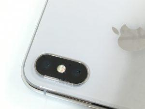 バックカメラレンズを交換修理したiPhoneXテン-300x225
