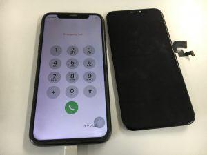 表面ガラスを交換した新品のようなiPhoneX