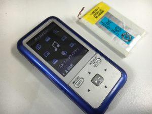 バッテリーを新品に交換したNW-S715F