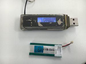 電池を新品に交換したUSB型ウォークマンNW-E016-300x225