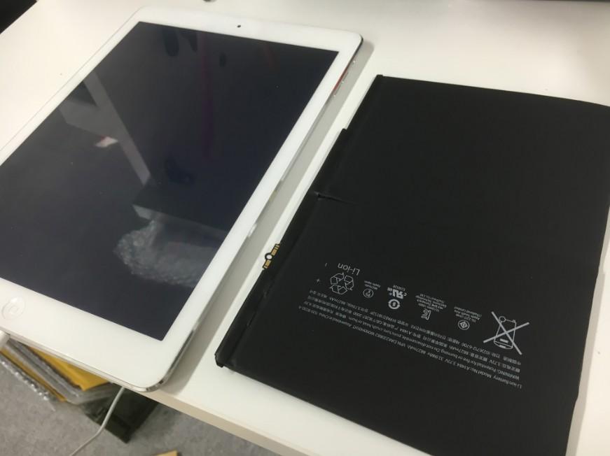 バッテリーを新品に交換したiPad Air