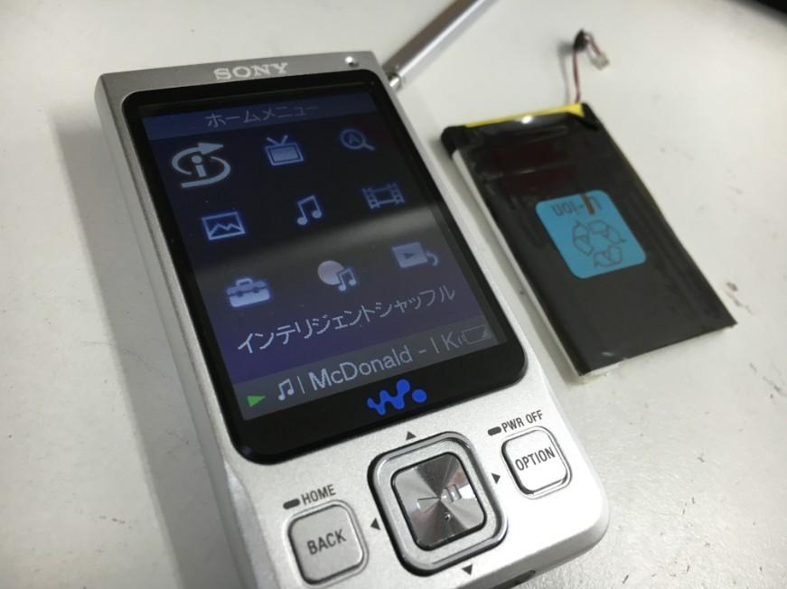 バッテリー交換で電源が入るようになったウォークマン NW-A918