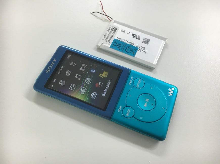 電池パックを新品交換して充電持ちが大幅に改善したウォークマン NW-S774