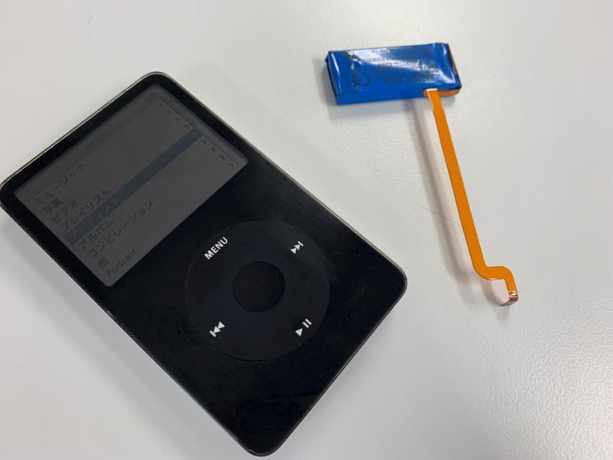 バッテリーを新品に交換したiPod classic第5世代