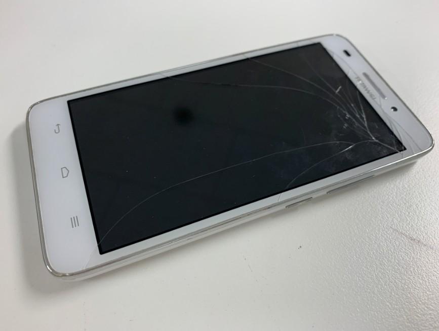 表面ガラスが割れてタッチ切れ&誤動作するHuawei Ascend G620S