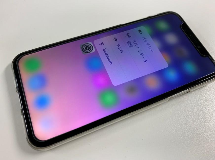 有機ELディスプレイ交換後のiPhone X(テン)