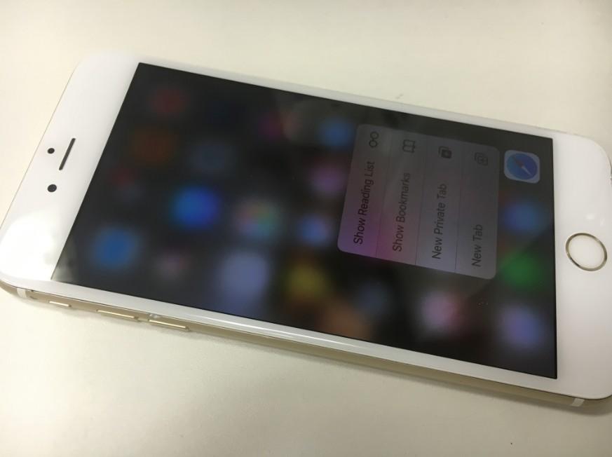 液晶画面を交換して操作できるようになったアイフォン6s