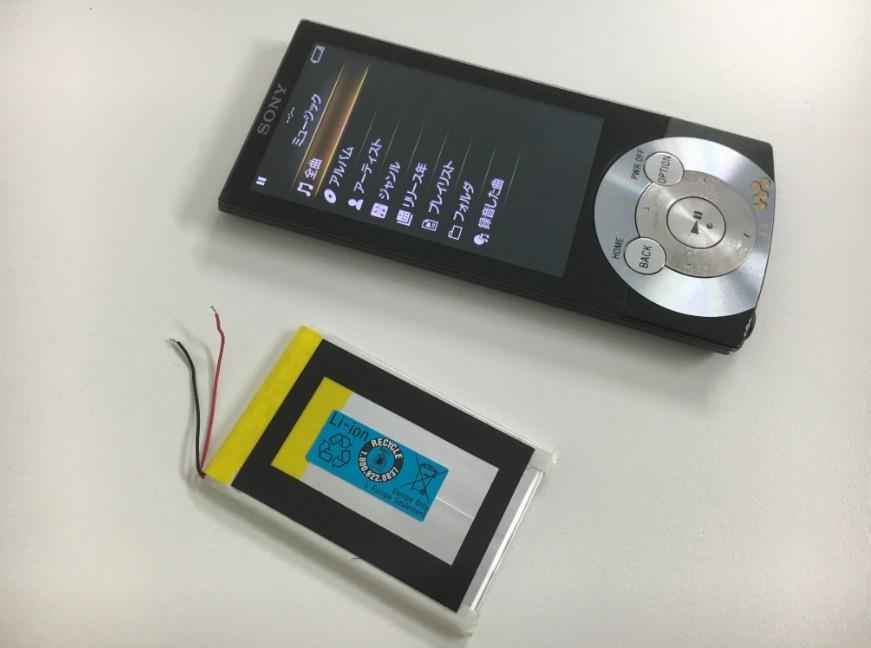 バッテリーを新品に交換したNW-A856