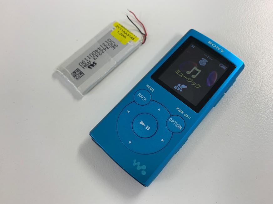 バッテリーを新品に交換したNW-E062