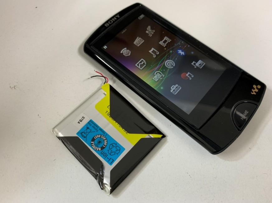 充電池を新品に交換したWALKAN NW-A866