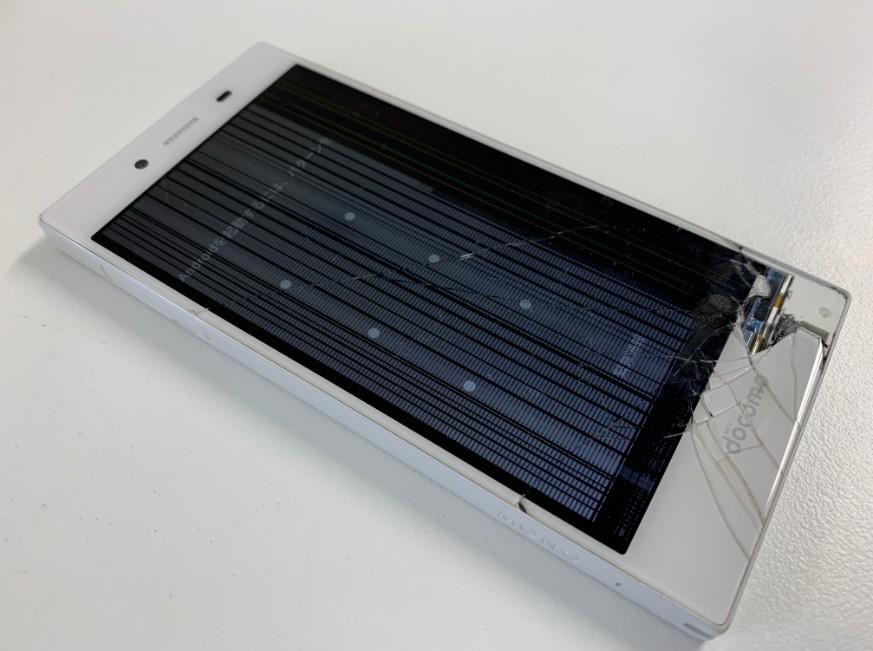 液晶画面が破損して線が入っているMONO MO-01K